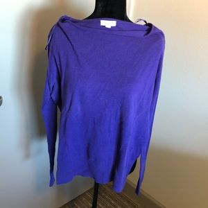 Tops - Calvin Klein Swoop Neck Long Sleeve Blouse